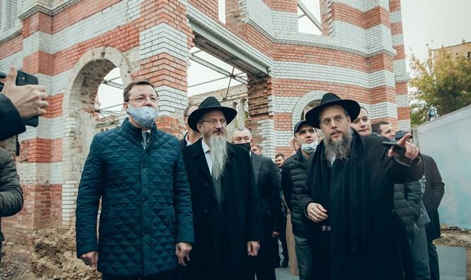 Grundsteinlegung für Restaurierung der historischen russischen Synagoge