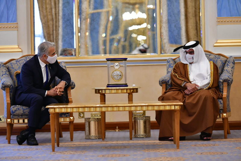 Israels  Außenminister Lapid in Bahrain