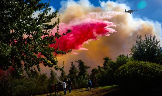 Feuer lodert in den Jerusalemer Bergen