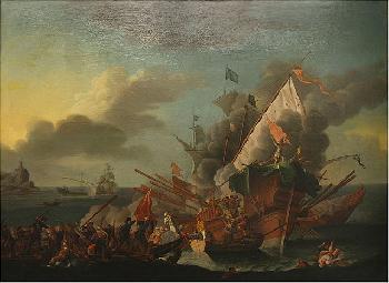 Seeschlacht-von-Lepanto-am-710-vor-450-Jahren