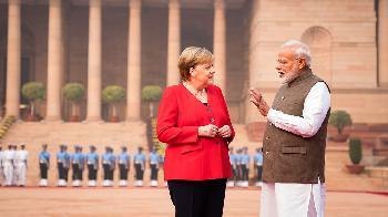 Pressestatements von Bundeskanzlerin Merkel am 01. November 2019  in Neu-Delhi