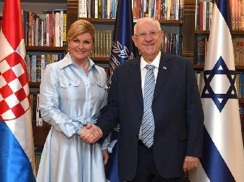 Präsident Rivlin trifft kroatische Amtskollegin