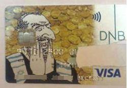 Norwegen: Kreditkarte mit antisemitischem Hassmotiv