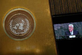 Terroristen fordern den Tod von Juden - vor dem UNO-Hauptquartier in Gaza
