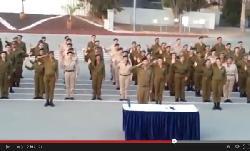 [IsraVideo] haTikva in Gebärdensprache für hörgeschädigte Rekruten der IDF/Zahal