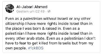 Selbst als Palästinenser ...