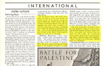 Die fliehenden Araber (TIME Magazine, 3. Mai 1948)