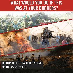 Ausschreitungen an der Grenze zum Gazastreifen [Video]
