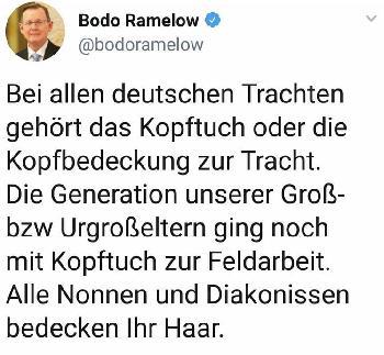 Herr Ramelow, runter damit, heute tue ich, was ich will!