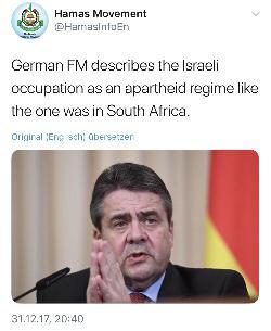 Israelischer Minister kritisiert Sigmar Gabriel scharf