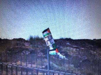 Gaza: Palästinenser hissen Hakenkreuz-Fahne