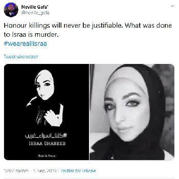 Ehrenmord an Palästinenserin löst Empörung aus