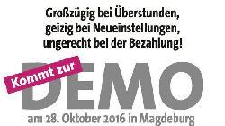 Gekürzt, gestrichen, vergessen - dbb und DPolG demonstrieren in Magdeburg!