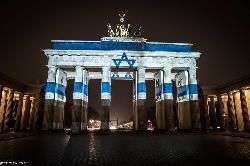 Illumination-Hatikva am Brandenburger Tor