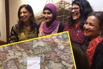 Eine US-Demokratin, auf deren Karte Israel nicht existiert