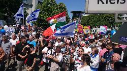 Mehr als 1.500 Teilnehmer bei pro-israelischen Demonstrationen gegen den `Quds-Marsch´