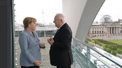 Präsident Rivlin trifft Merkel