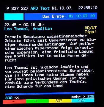 Israel-Diffamierung pur in der ARD