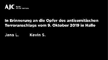 AJC Berlin zum antisemitischen Terroranschlag von Halle