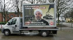 """""""Das iranische Regime, Assad und Russland sind verantwortlich für die Flüchtlingskrise, Herr Steinmeier"""""""