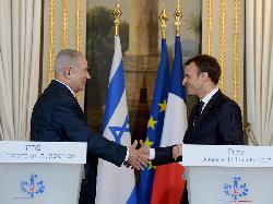Premierminister Netanyahu trifft französischen Präsidenten Macron