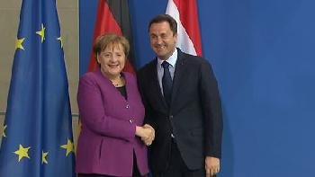 Pressekonferenz von Bundeskanzlerin Merkel und dem luxemburgischen Premierminister Xavier Bettel