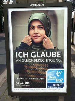 Kontroverses Plakat zur ARD-Themenwoche `Woran ich glaube´