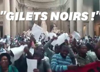 Paris: Migranten besetzen Pantheon [Video]