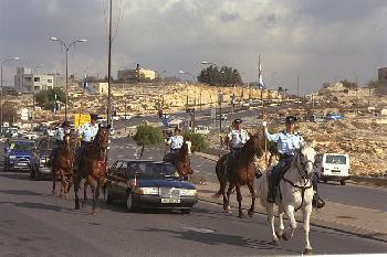 Israels Polizisten hoch zu Ross