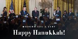 Bewegende Chanukka-Feier der Trump-Familie im Weißen Haus [Video]