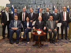 Neue muslimische Richter von Rivlin empfangen