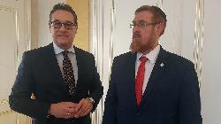 Likud-Abgeordneter trifft mit FPÖ-Vorsitzenden zusammen