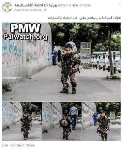 Hamas feiert 5jährigen Kindersoldaten