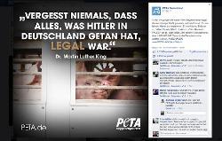 PETA: PR mit Martin Luther King und dem Holocaust