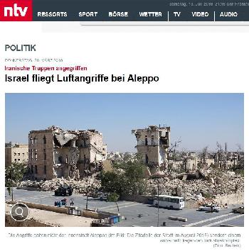 Wie n-tv eine Bildunterschrift über israelischen Angriff verschlimmbessert