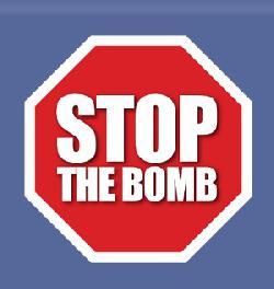 STOP THE BOMB protestiert gegen Steinmeier Reise in den Iran