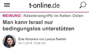 Lamya Kaddor erklärt: `Man kann Israel nur bedingungslos unterstützen´