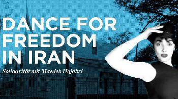 Berlin tanzt aus Solidarität mit Maedeh Hojabri vor der Iranischen Botschaft