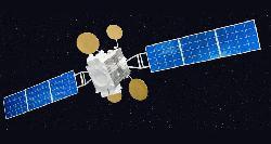 """Israelischer Satellit \""""Amos 5\"""" im Weltall"""