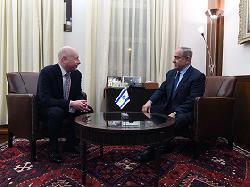 Premierminister Netanyahu empfängt US-Sondergesandten für internationale Verhandlungen