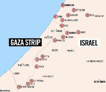 200 Raketen auf Israel abgefeuert
