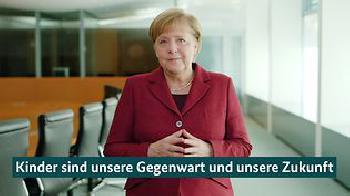 Merkel: Die Lebensbedingungen von Kindern und Eltern verbessern
