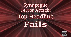 Terroranschlag in der Synagoge: die missglücktesten Schlagzeilen