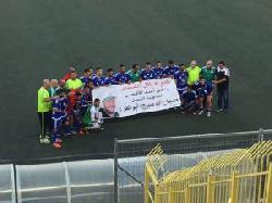 Palästinensische Fußballmannschaft feiert zweifachen Mörder
