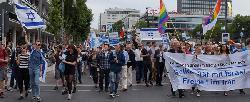 Protest gegen den antisemitischen `Qudsmarsch´