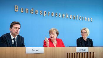 Sommerpressekonferenz von Bundeskanzlerin Merkel