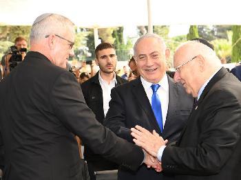 Präsident Rivlin bei Shimon-Peres-Gedenkzeremonie