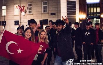 Aufmarsch türkischer Nationalisten in Wien