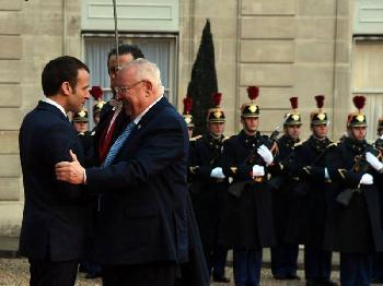 Staatspräsident Rivlin in Frankreich
