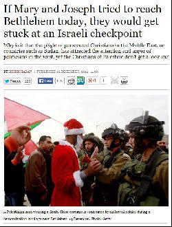 Wiederkäuen der palästinensischen Weihnacht